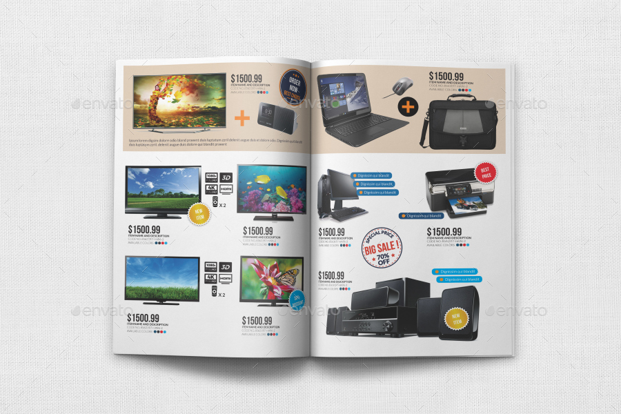 Products Catalog Brochure Template Vol5 by OWPictures – Product Brochure Template