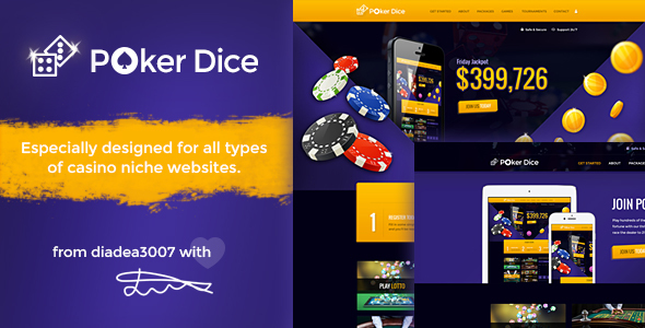 Poker Dice - Casino PSD Template