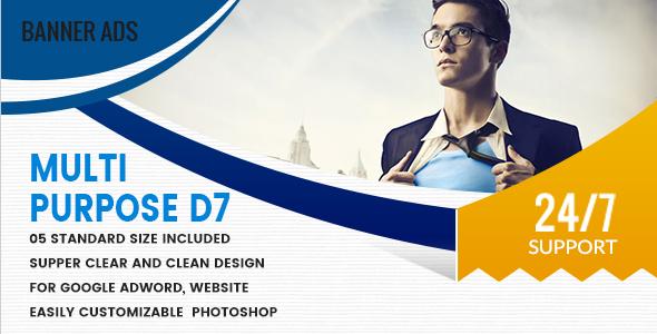 Multi Purpose Banners HTML5 D7 - Animate