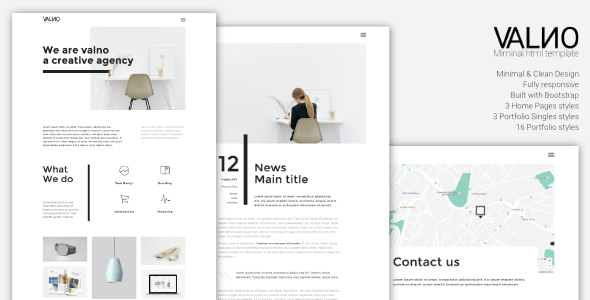 Download Valno - Minimal Creative Multi page Portfolio WordPress Theme nulled download