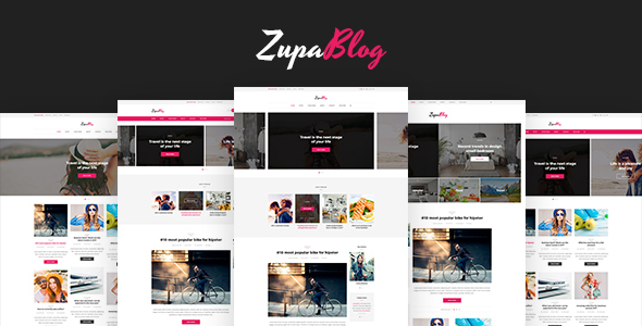 ZupaBlog – Creative Blog and Magazine PSD Template (Personal) Download