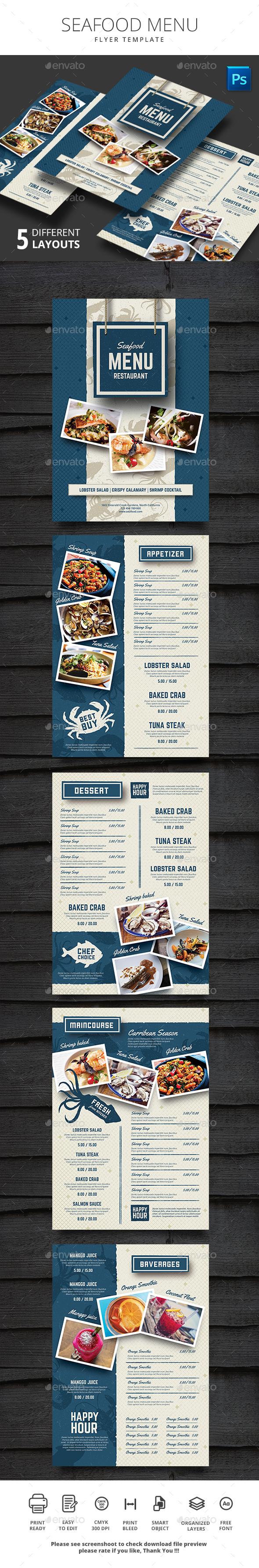 Seafood Restauran Menu