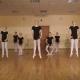 Little Ballerinas Dancing In Dance Studio