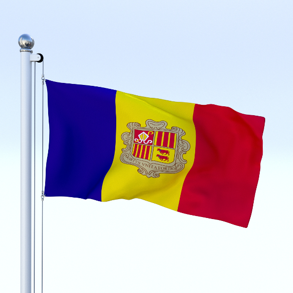 Animated Andorra Flag - 3DOcean Item for Sale