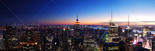 New York City panorama - Stock Photo - Images