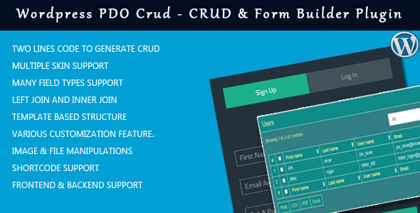 WordPress PDO Crud – Crud &amp Type Builder Plugin for wordpress (Types)
