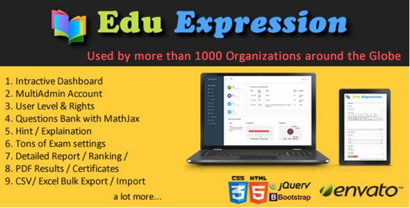 Edu Expression Exam Pro. - CodeCanyon Item for Sale