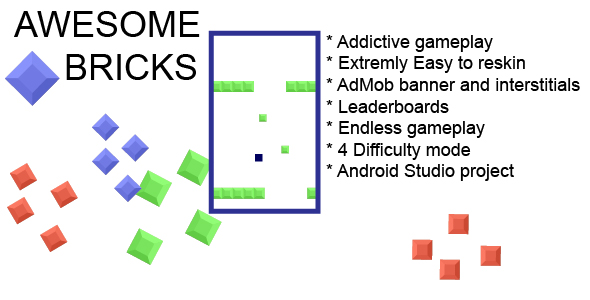 Awesome Bricks Android Game - CodeCanyon Item for Sale