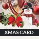 Greeting Christmas Card and Postcard