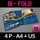 Construction Company Brochure Bi-Fold Template Vol.3