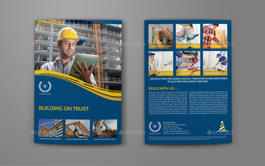 construction brochure templates - construction company brochure bi fold template vol 3 by