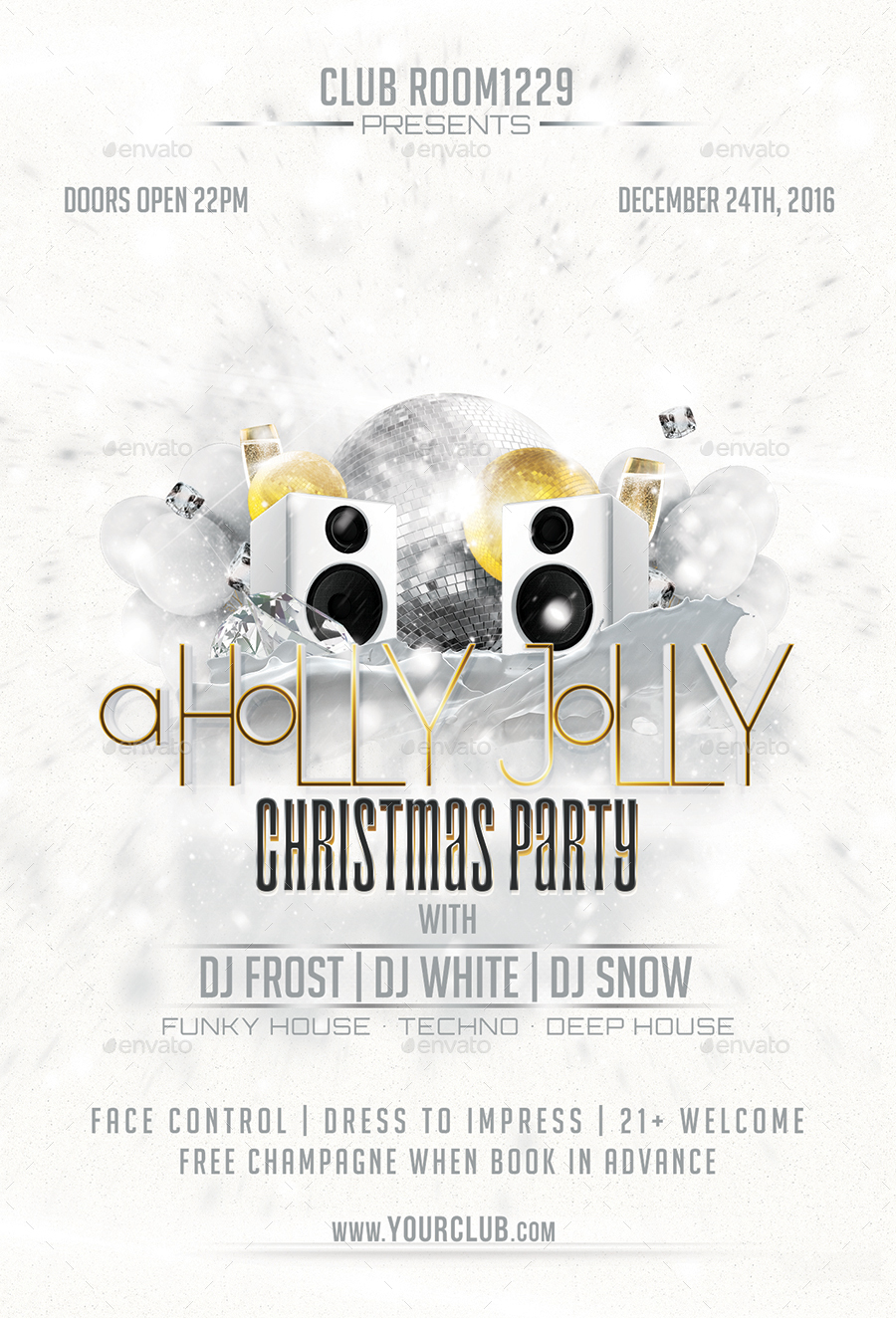 holly jolly christmas party flyer template by designroom holly jolly christmas party flyer template