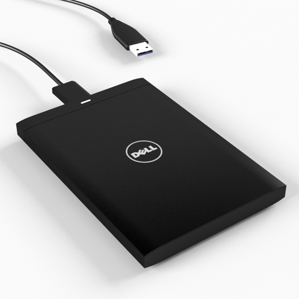 dell external harddisk - 3DOcean Item for Sale