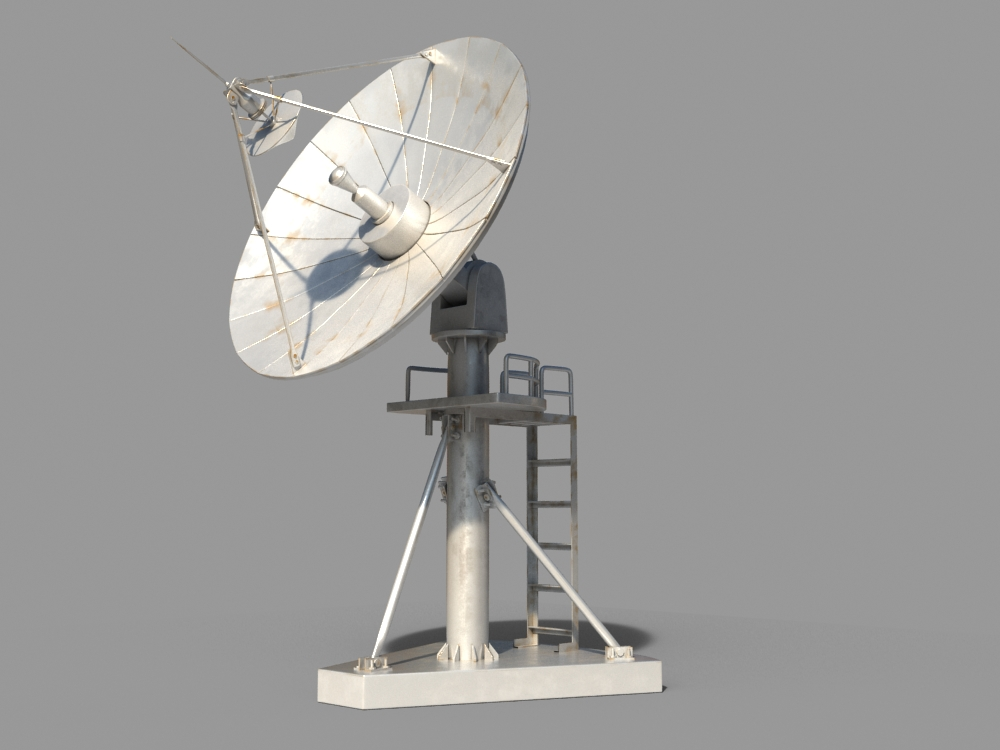 Radio satellite by teddpermana 3docean - Antena satelite interior ...