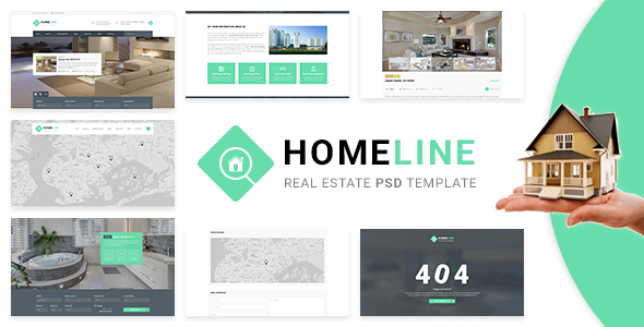 Homeline – Real Estate PSD Template (Business) Download