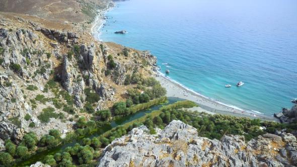 VideoHive Palm Beach Preveli In Crete Greece 18710151