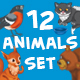 12 Animals Set