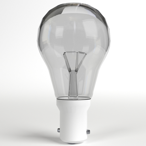 Incandescent Light Bulb Lamp - 3DOcean Item for Sale
