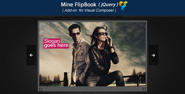 Visual Composer Add-on - Mine jQuery FlipBook