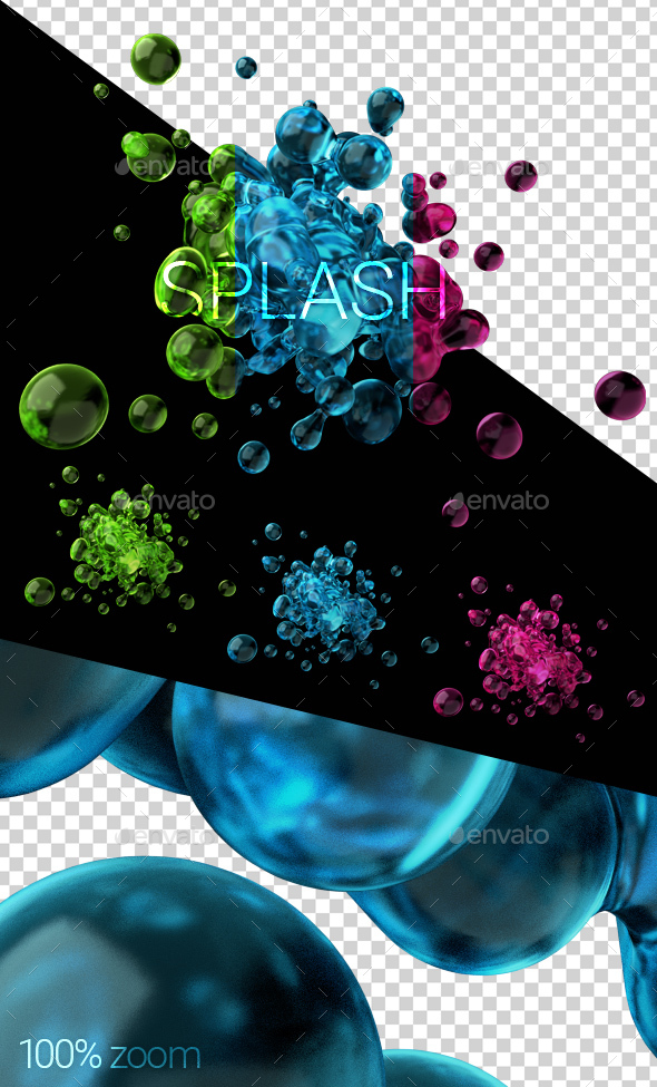 3D Render of Liquid Splash