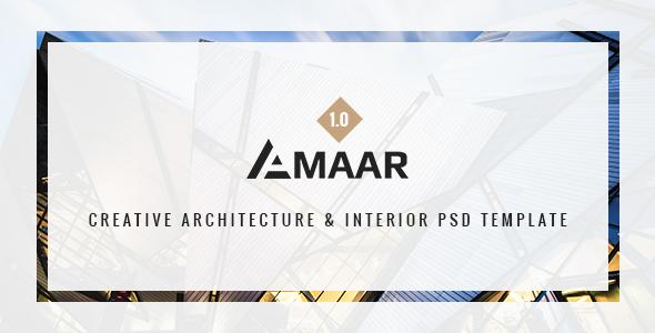 Amaar | Inventive Architecture &amp Interior PSD Template (Company)