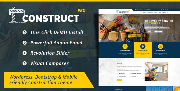 Construction  - Construction Business WordPress Theme (Construct Pro)