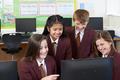 Portrait Of Elementary School Pupils In Computer Class