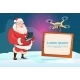 Santa Claus Hold Remove Controller Drone Flying