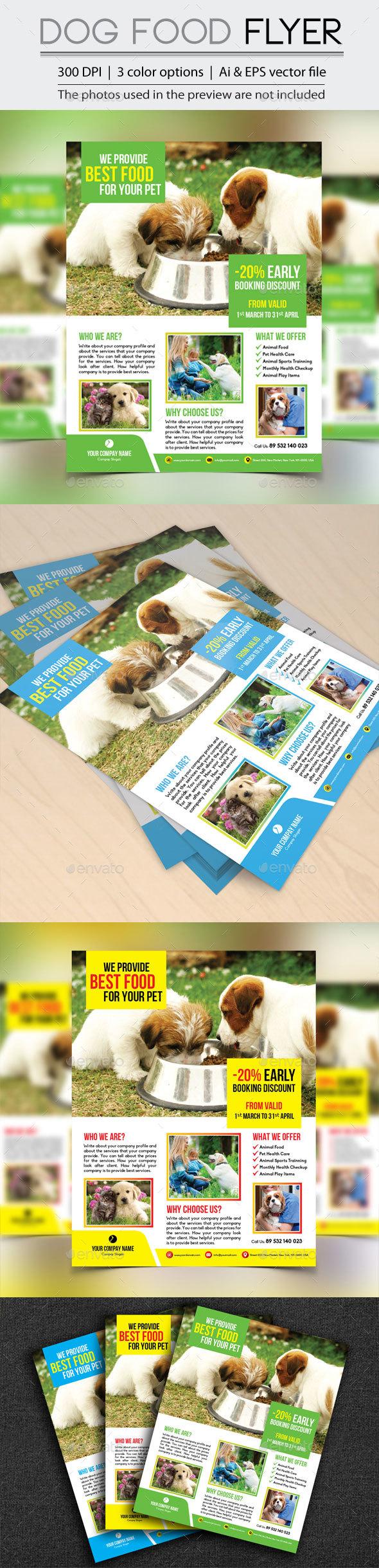 Dog Food Flyer