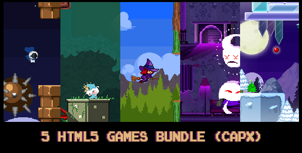 Download 5 HTML5 pixel-games Bundle (capx) nulled download