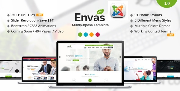 Envas - Multipurpose Business Joomla Template