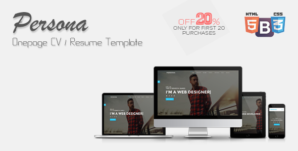 Persona - Onepage CV/Resume Template