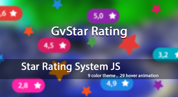 GvStar Rating System Theme - CodeCanyon Item for Sale
