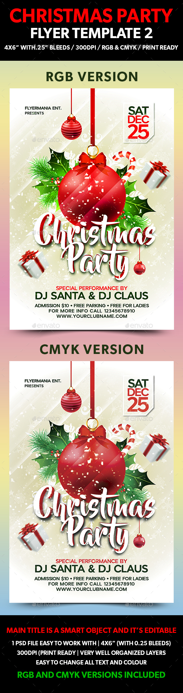 Christmas Party Flyer Template 2