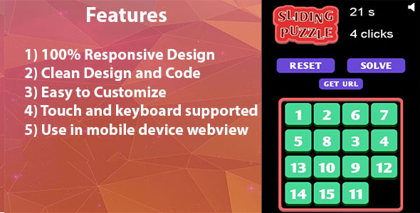 Download 15 sliding puzzle HTML5 game nulled download