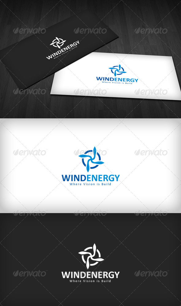 Wind Energy Logo - Vector Abstract