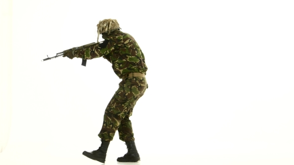 VideoHive Man With The Weapon White Background 18721081