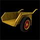 Wheel Barrow Low poly Game Ready 3D Model