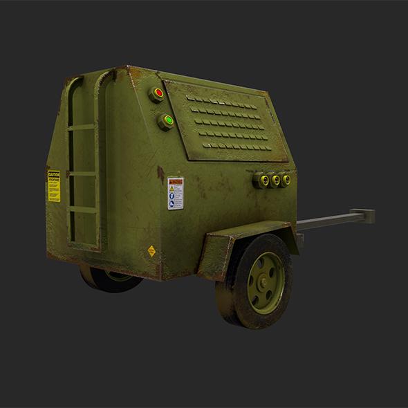 Industrial Diesel Generator Low Poly Game Ready - 3DOcean Item for Sale