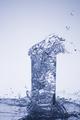 Water droplets, splashes, sprays