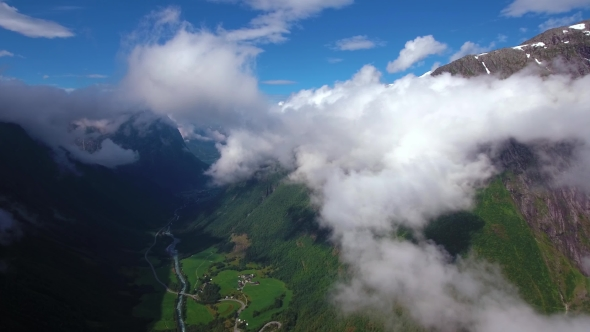 VideoHive Aerial Footage Beautiful Nature Norway 18721785