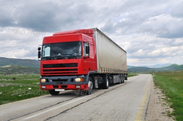 truck road - Stock Photo - Images