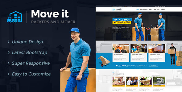 MoveIt - Movers, Relocation, Transportation Company WordPress Theme
