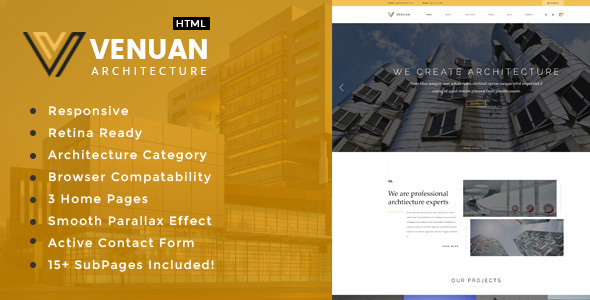 Venuan - Architecture, Interior and Renovation Template