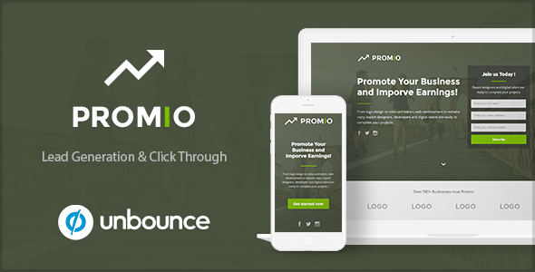 Download PROMIO - Marketing Multipurpose Unbounce Landing Page nulled download