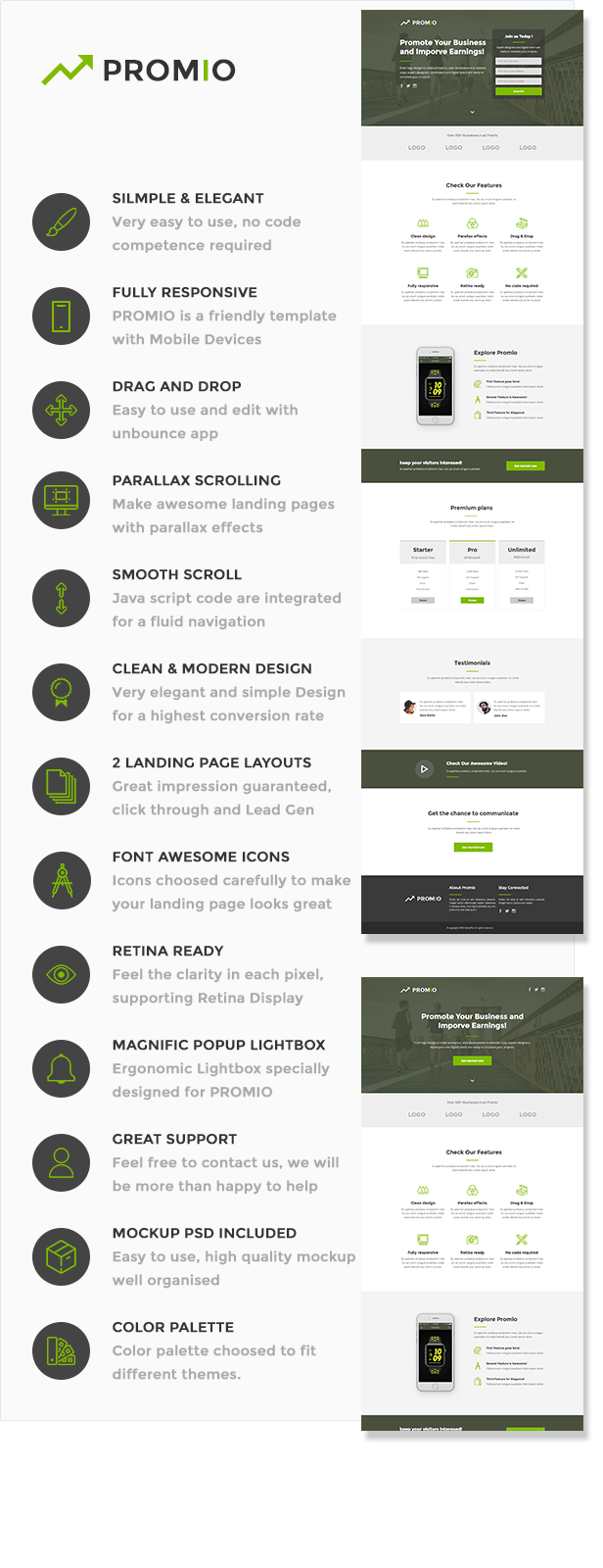 PROMIO - Marketing Multipurpose Unbounce Landing Page