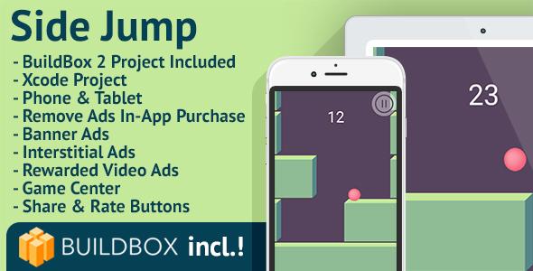Side Jump: iOS, BuildBox Included, Easy Reskin, AdMob, RevMob, HeyZap, Remove Ads - CodeCanyon Item for Sale