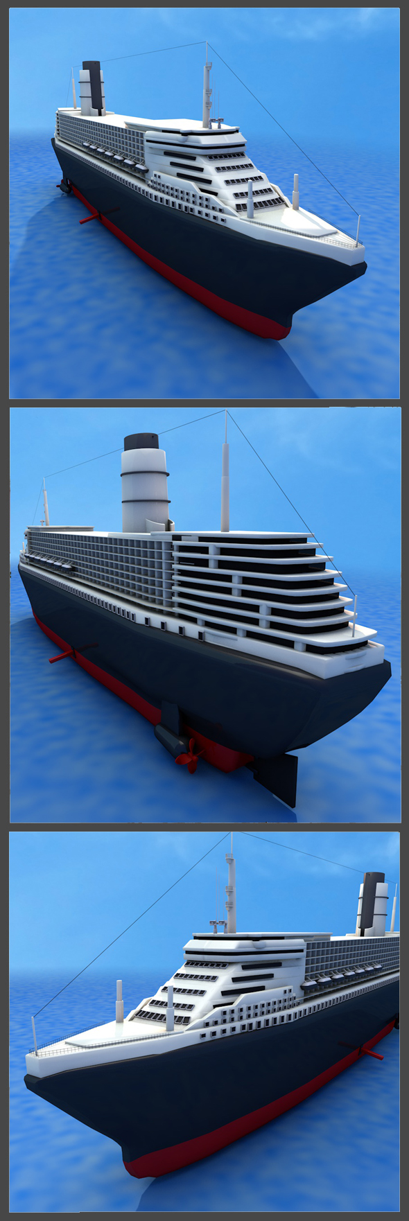 Ocean Liner Queen Mary 2 - 3DOcean Item for Sale