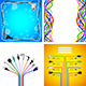 Plug Wire Cables Backgrounds and Infographics