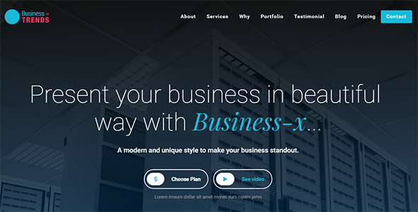 Image of Business-x: Business Landing Page